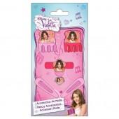 Pack acessórios cabelo + anel Violetta Disney