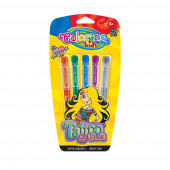 Pack Canetas Gel Tatuagens 5 cores