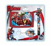 Pack carteira+caneta+porta chaves  Avengers