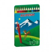 Pack de 12 Lápis de cor em caixa metálica - Alpino