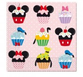 Pack de 20 guardanapos Cupcakes  Mickey Disney