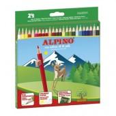 Pack de 24 lápis de cor - Alpino