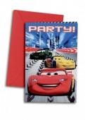 Pack de 6 convites Faísca Cars
