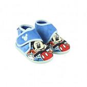 Pantufa Bota Baby Mickey Disney Azul