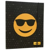 Pasta A4 Emojis com argolas e elástico - Óculos de Sol