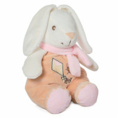 Peluche coelho rosa com chocalho