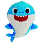 Peluche com Som Baby Shark Azul