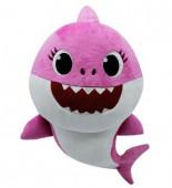 Peluche com Som Baby Shark Rosa 19cm