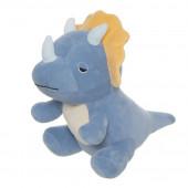 Peluche Dinossauro Triceratops Azul