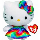 Peluche hello kitty 15cm Arco iris