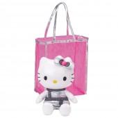 peluche Hello Kitty medio c/ Saco Rosa Transparente