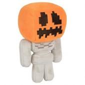 Peluche Minecraft Esqueleto Cabeça Abóbora 18cm
