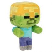 Peluche Minecraft Zombie Capacete Dourado 18cm