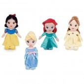 Peluche Princesas Disney 25cm - pack 4