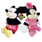Peluches Disney Mickey e Minnie 35cm - Snuggle Time