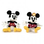 Peluches Mickey Mouse e Minnie Mouse clásico 17cm - Sortido