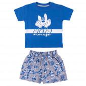 Pijama Verão Mickey Face Azul