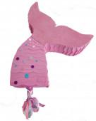 Pinhata Cauda de Sereia Rosa 45cm