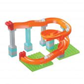 Pista Encaixes Roller Coaster 31 Blocos Unico Plus