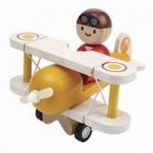 Plan Toys - Avião Clássico com Piloto