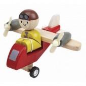 Plan Toys - Avião TurboProp com Piloto