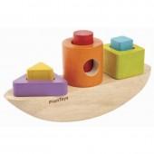 Plan Toys - Barco + Figuras Geométricas