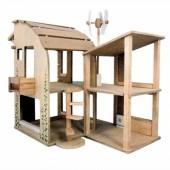 Plan Toys - Casa bonecas ecológica madeira, sem mobílias