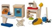 Plan Toys - Conj. Lar Casa Bonecas Madeira