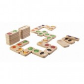 Plan Toys - Dominó Frutas e Vegetais