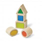 Plan Toys - Jogo Encaixe Figuras Geométricas