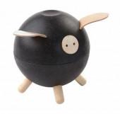 Plan Toys - Porco Mealheiro Preto