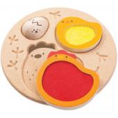 Plan Toys - Puzzle Galinha