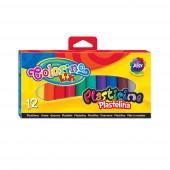 Plasticina 12 Cores Colorino