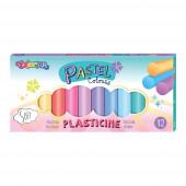 Plasticina 12 Cores Pastel Colorino