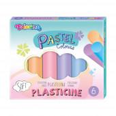 Plasticina 6 Cores Pastel Colorino