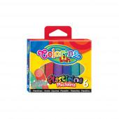 Plasticina com Brilhantes Colorino 6 Cores