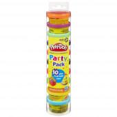 Play Doh Tubo 10 Mini Potes Party Tube