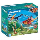 Playmobil Explorers - Helicóptero com Pterossauro