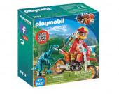 Playmobil Explorers - Mota com Velociraptor