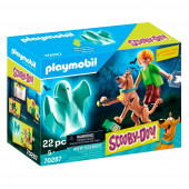 Playmobil Scooby-Doo - Scooby e Shaggy com Fantasma