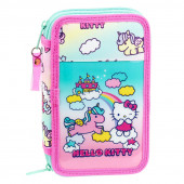 Plumier Estojo Hello Kitty Candy Unicorn