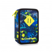 Plumier Triplo CoolPack Football Blue