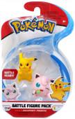 Pokémon Figura Combate Jigglypuff vs Pikachu