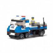 Police Camião com Barco Marinha 202 pcs Sluban