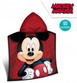 Poncho em Microfibra Mickey - Vermelho