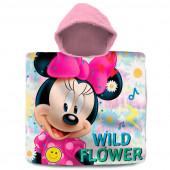 Poncho Praia Algodão Minnie Wild Flower