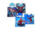 Poncho Praia Microfibra Spiderman Blue Sortido
