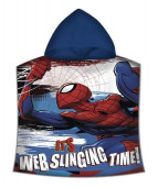 Poncho Praia Microfibra Spiderman Web Slinging