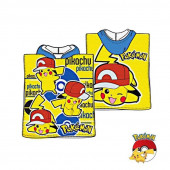 Poncho Praia Pokémon Pikachu Amarelo