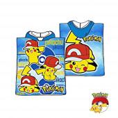 Poncho Praia Pokémon Pikachu Azul